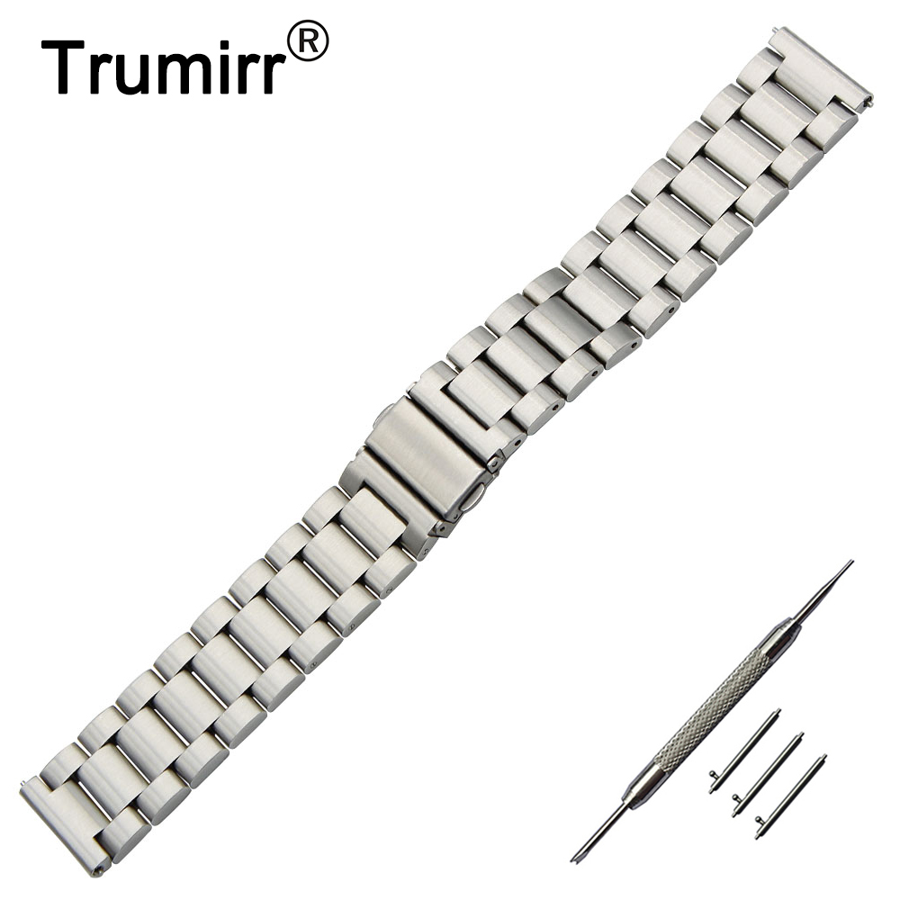 18mm 20mm Stainless Steel Watch Band + Quick Release Pins for DW Daniel Wellington Strap Wrist Belt Bracelet Black Gold Silver