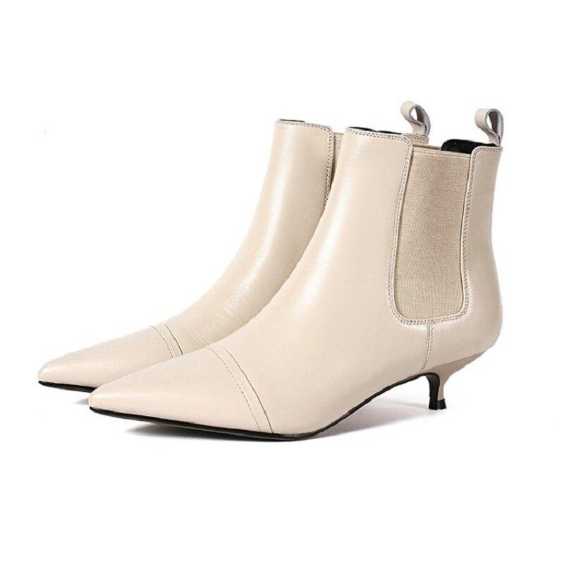 De Calidad Mujeres 0321 2019 Estilete Otoño Americana Y Alta Las Nueva Zapatos E Beige Invierno Europea Moda vO8xUvaRn