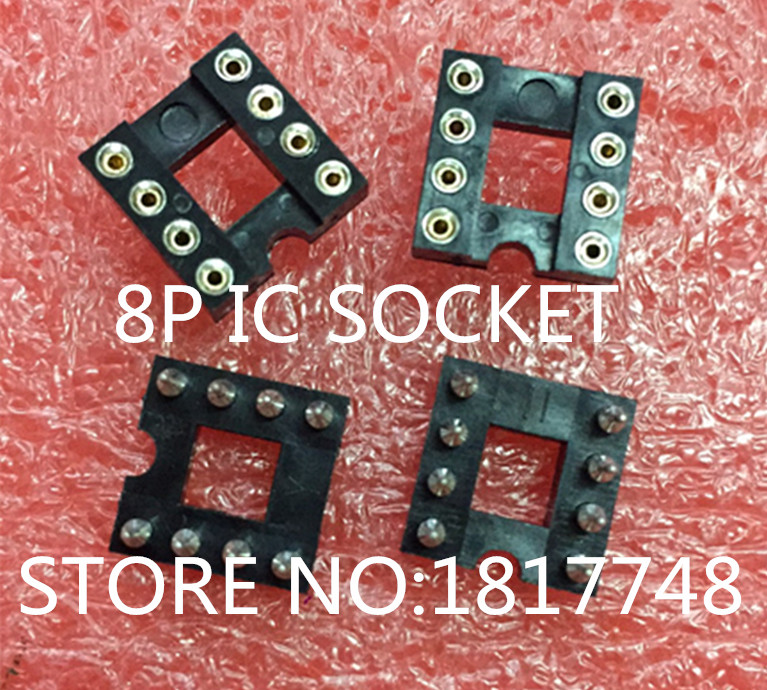 60pcs/lotGold plated IC socket 8P round hole IC socket DIP-8 round pin 8 chip seat op amp high quality 8pins dip dip 8 ic socket test socket round hole square type pin dip8 dip14 dip16 dip18 dip20 dip24 dip28 dip32 dip40