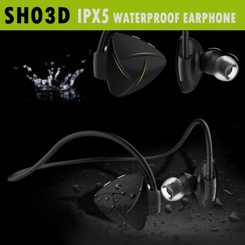 SH03D NFC Wireless Bluetooth 4.0 Headset Stereo Hearphone Sport Earphone MP3 Media Player Voice Reminder Sweatproof Self Timer