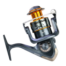 REELSKING 14 + 1BB Gear Ratio Up to 5.2:1 Spinning Fishing Reel with Exchangeable Handle Automatic folding for Casting Line сменный поводок для морской оснастки balzer exchangeable mouth line 2