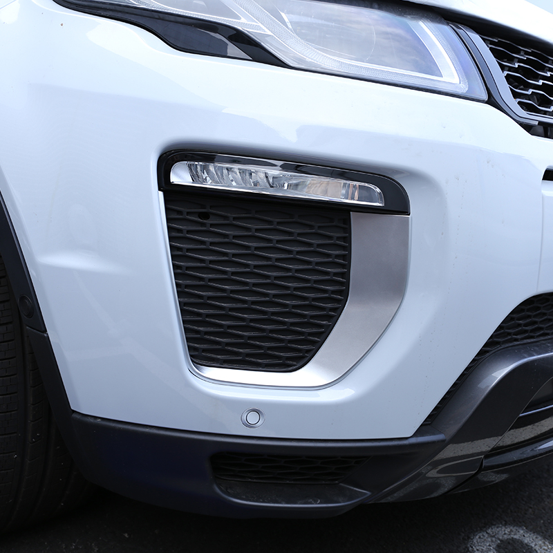 For Landrover Range Rover Evoque HSE Dynamic 2016-2017 Car Accessories Front Fog Lamp Frame Trim ABS Chrome New Arrivals for land rover range rover evoque 2012 2016 car interior front dashboard edge cover frame trim abs chrome sticker accessories