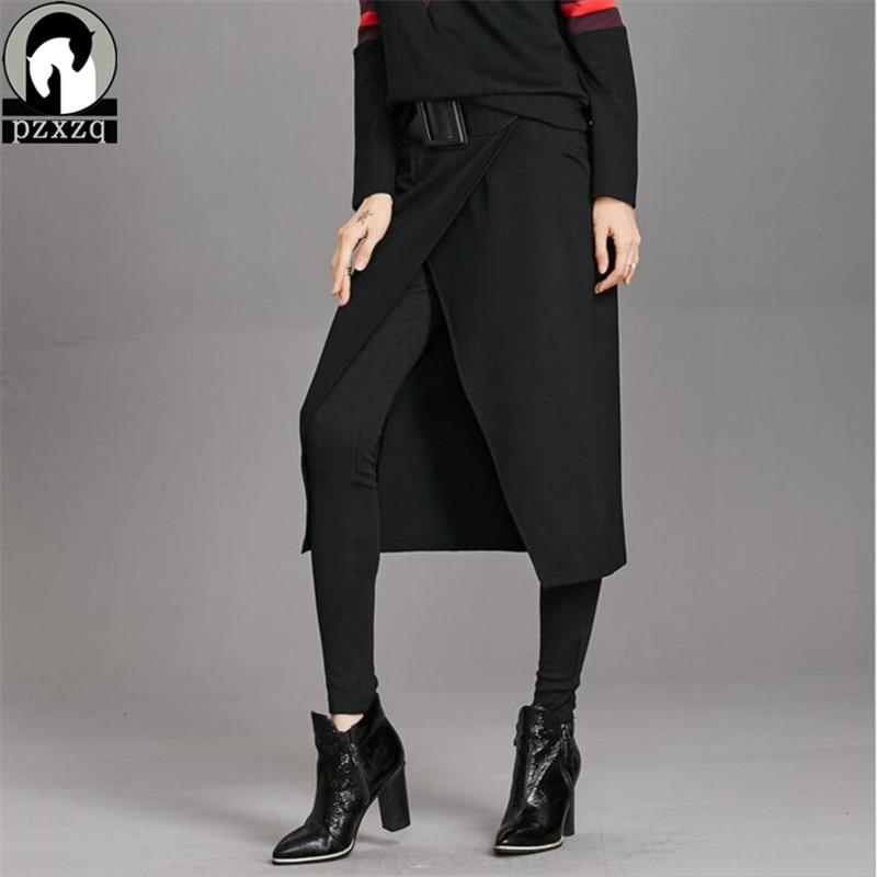 High Street Harajuku Styal Vintage Cotton Elastic Winter   Leggings   For Women Trousers + Apron 2 Suit Sexy Casual Leggins Jeggings