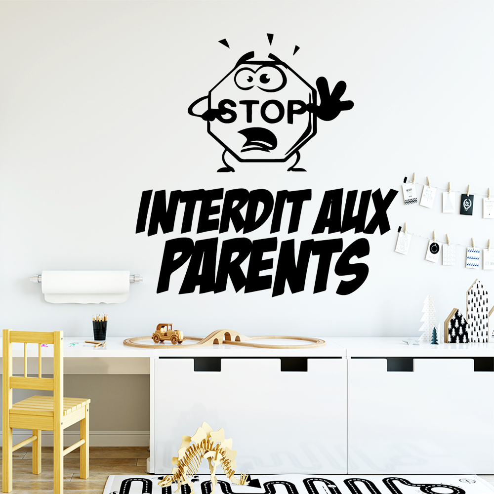 Funny English Sentences Nursery Wall Stickers Vinyl Art Decals Room Decor Background Decal