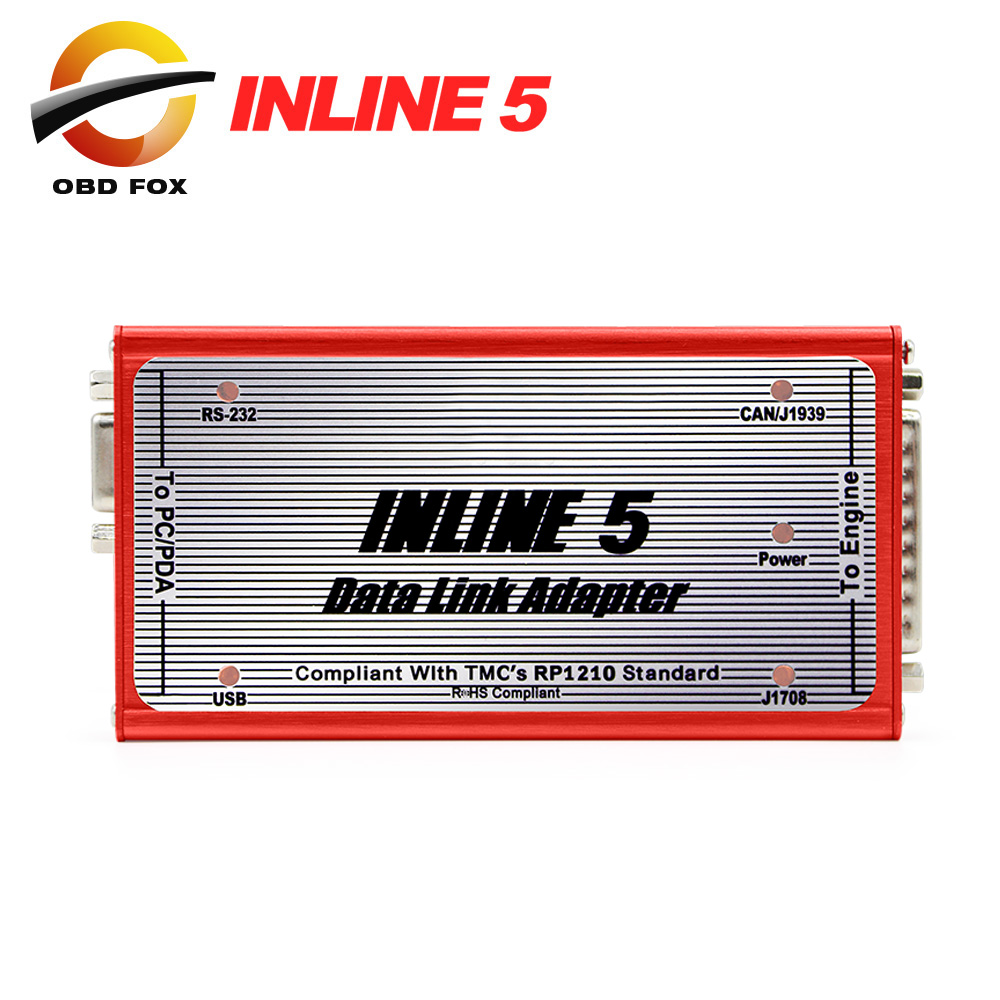 2017 Hot selling Professional Inline 5 Insite 7.62 Multi-language Data Link Adapter For Diesel Engine inline 6 DHL free shipping