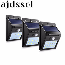 Waterproof Outdoor Wall LED Solar Night light PIR Motion Sensor Auto Swith Solar lamp Porch Path Street Fence Garden lighting 20 leds led solar lamp solar power porch lights pir motion sensor light outdoor waterproof wall night lamp street lighting