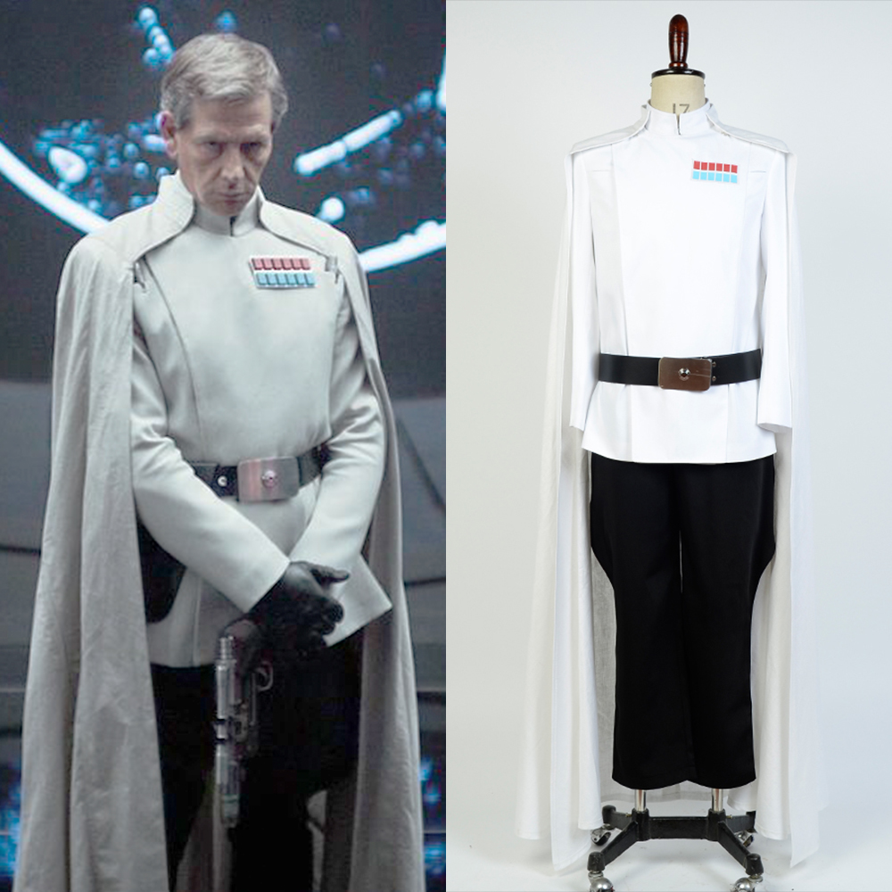 Cosplay Orson Krennic Costume Rogue One A Star Wars Story Costume White Set Uniform Adult Men Movie Outfit Halloween Costume