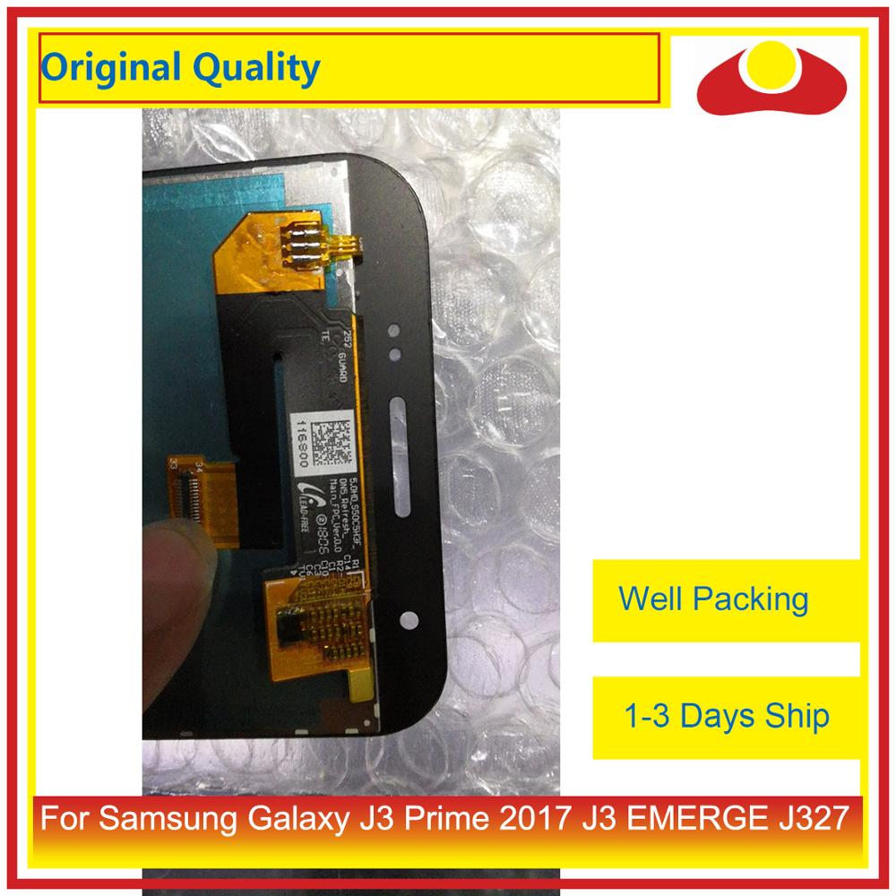 Image 4 - 50Pcs/lot Original For Samsung Galaxy J3 Prime J3 EMERGE J327 LCD Display With Touch Screen Digitizer Panel Pantalla Complete-in Mobile Phone LCD Screens from Cellphones & Telecommunications
