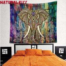Elefante indio Mandala Tapiz Hogar Boho Hippie Tapiz Tapices Colcha Toalla de Playa Manta Colchoneta de Yoga Paño de Tabla
