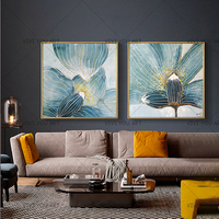 100% Handpainted Lotus Landscape Oil Painting on Canvas Art Impressionist Wall Picture Canvas Poster for Sofa Living Room