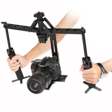 Dual Gimbal Handgrips Handheld Mechanical Stabilizer for Canon / Nikon / GoPro / AEE DSLR Video Camera
