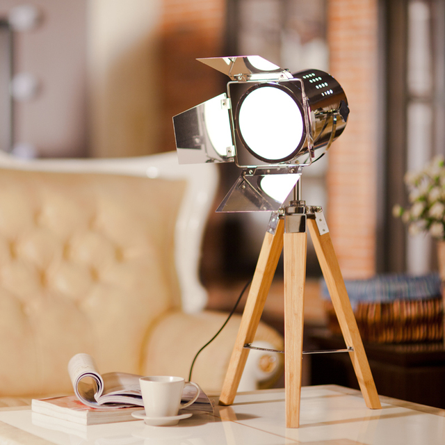 Free Shipping Factory Direct Searchlight Photography Lights Stainless Steel Table Lamp Bamboo Decorative Lamps Study Lamp