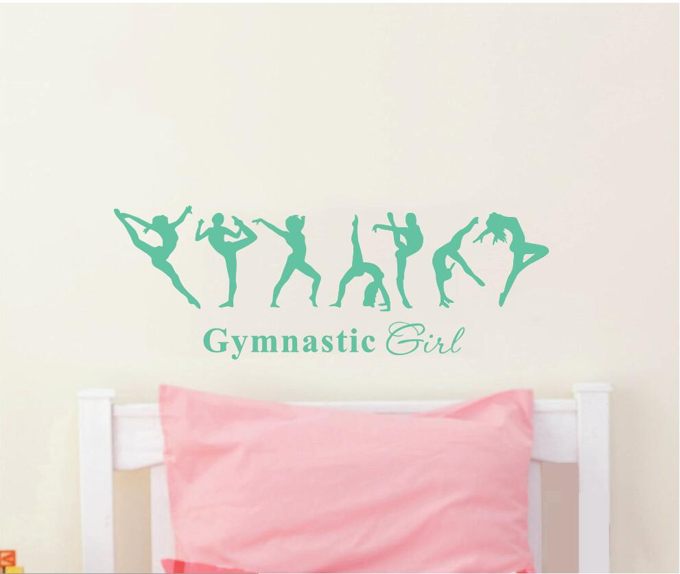 Gratis frakt vacker tjej gymnastik ballerina dac flagga väggdekor - Heminredning - Foto 2
