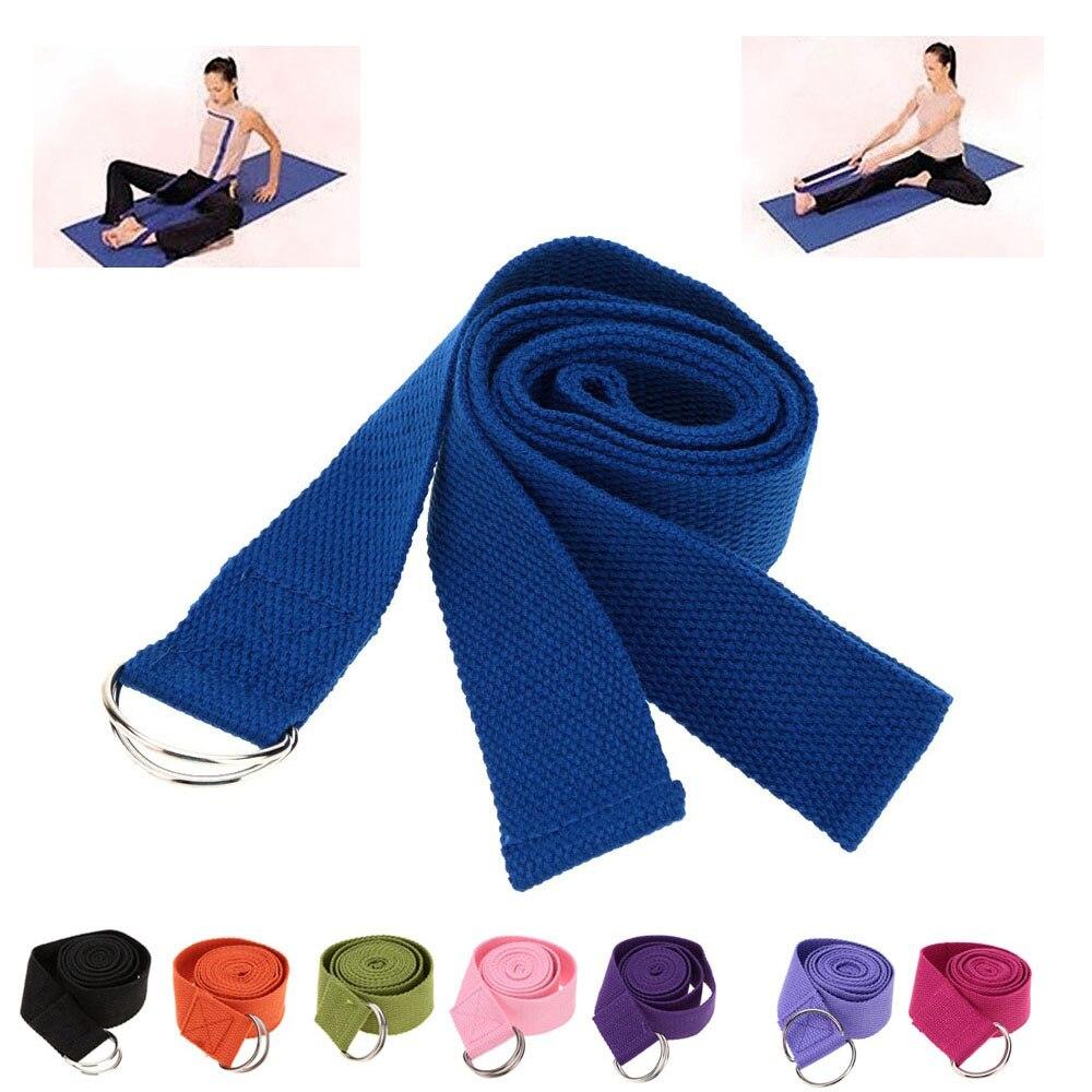 372703b092126 Nueva llegada 183 3.8 cm algodón fitness Yoga Correa pilates estiramiento  cinturón gimnasio Correa cintura pierna ejercicio cinturón envío libre