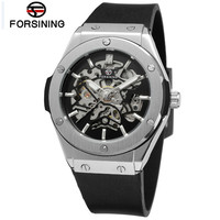 WINNER Fashion Men Auto Mechanical Hollow Out Watches Wristwatch