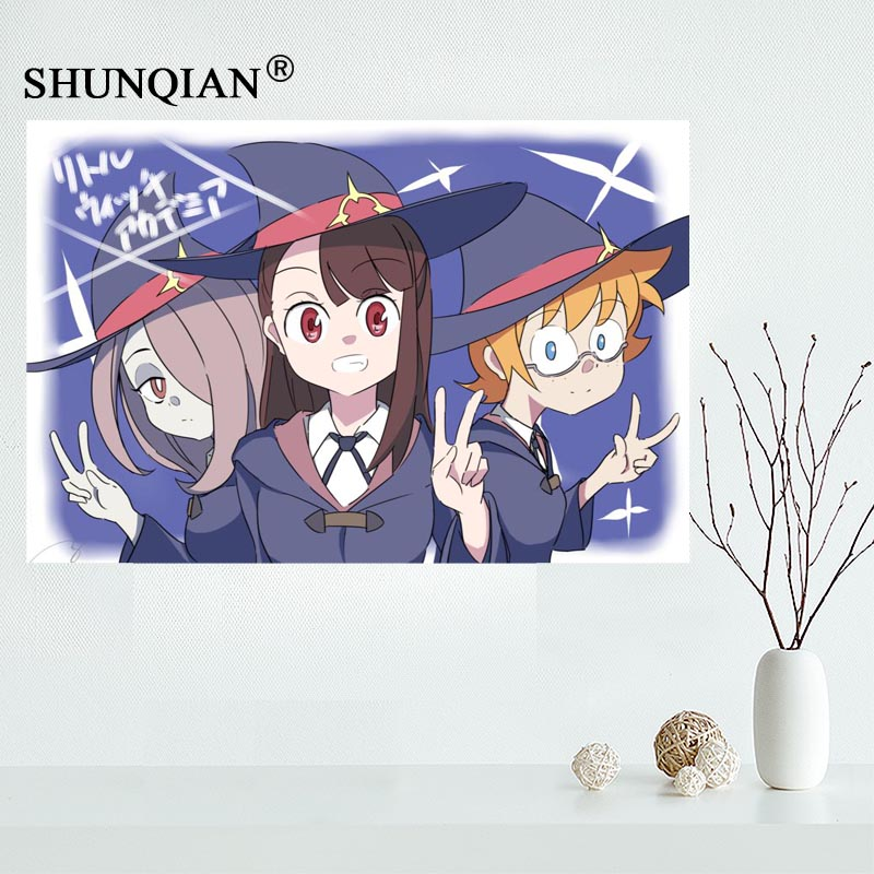 Little Witch Academia New Custom Silk Poster Art Wall Decor