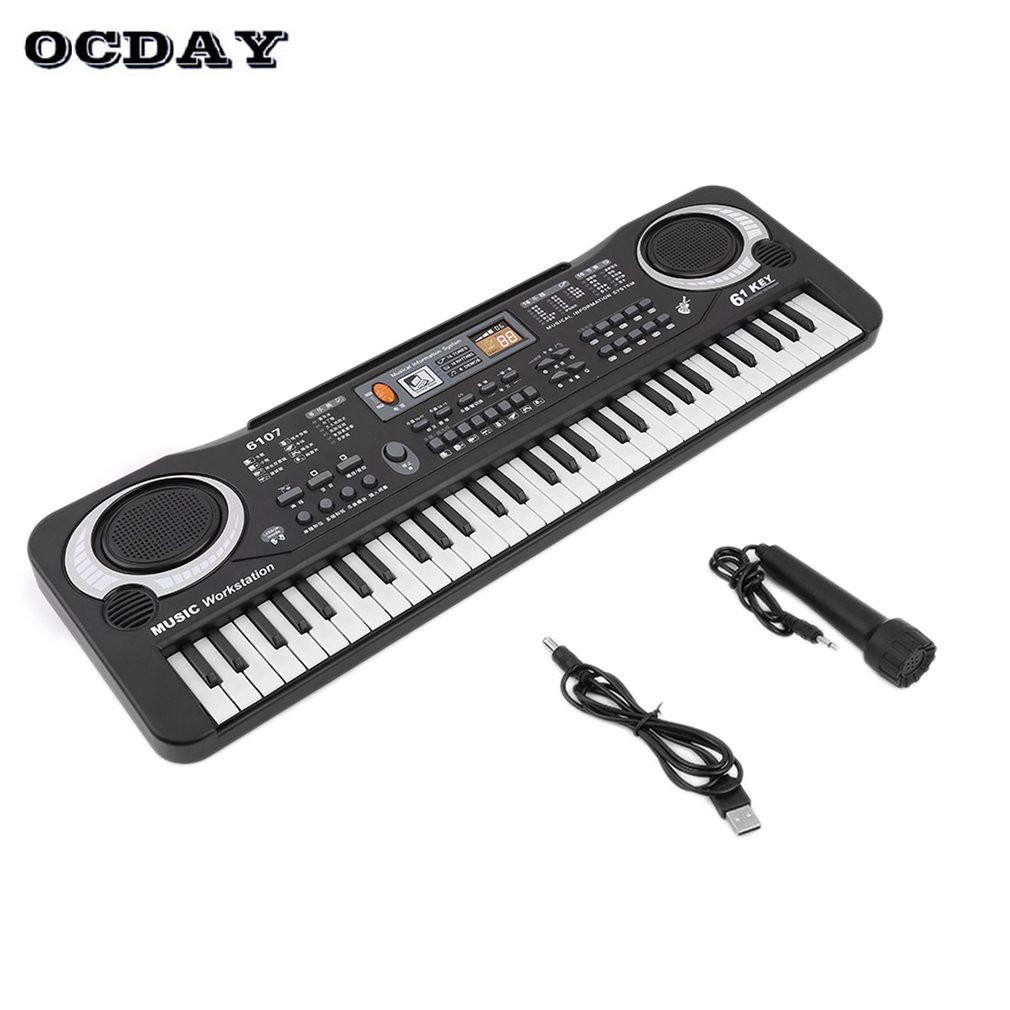 Toy Musical Instrument Toy Multifunction 61 Keys Digital Music Electronic Keyboard Board Gift Electric Piano Organ For Kids