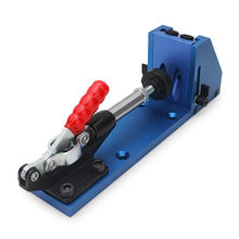 Brand New Woodworking Tool Pocket Hole Jig Woodwork Guide Repair Carpenter Kit System + Toggle Clamp and Step Drill Bit(China)
