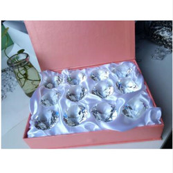 30mm 12pcs/Set With Pink Box Clear/Mixed Color Crystal Diamond Cut Jewelry Crafts Paperweight Home Decor Wedding Party Supplies