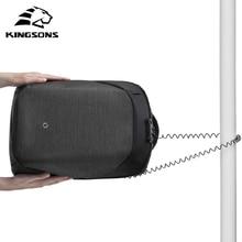 Kingsons KS3148W-A Klicken anti-dieb Solide Rucksäcke Wissenschaftliche Speichersystem Taschen Externe USB Lade Laptop Rucksack Unisex