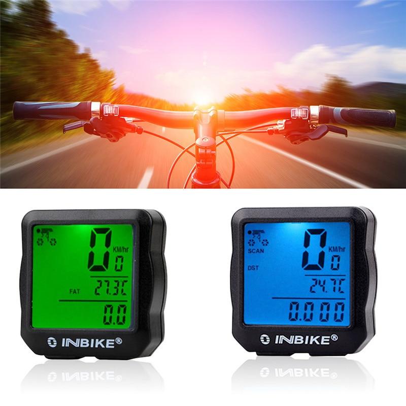 INBIKE Wired Bike Computer Waterproof Backlight Bicycle Computer Digital Speedometer Cycle Velo Computer Odometer