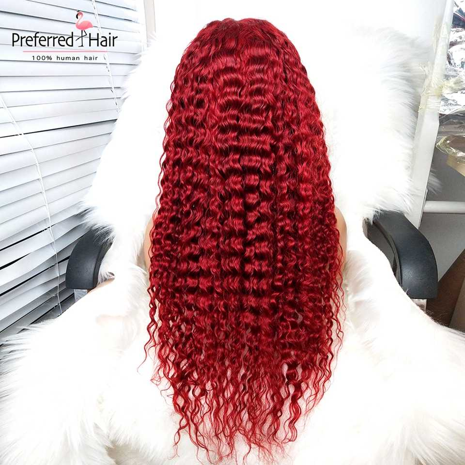 Предпочтительным красный парик с ребенком волос бразильского Волосы remy Ombre Парик Мёд блондинка Синтетические волосы на кружеве парики для черный Для женщин