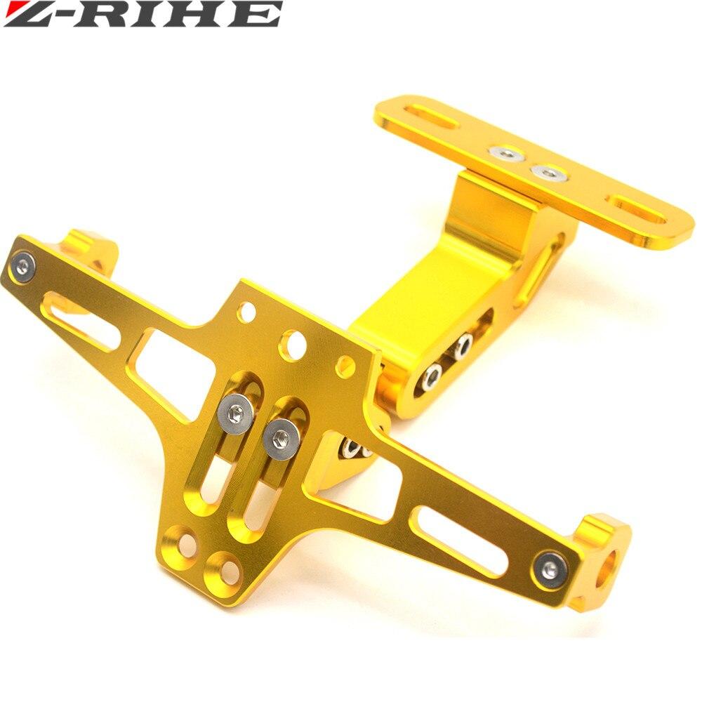 Bagian Sepeda Motor Universal Motorbike Adjustable Angle Aluminium Frame Cover Bingkai Plat Nomor Lisensi Pemegang Bracket Untuk Honda Msx125 Msx300 Di Meliputi Hias