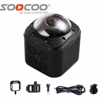 DHL SOOCOO 360F UHD 4K Action Camera Wifi 1080P/30fps 20M Underwater Waterproof Camera Bicycle Cycling Mini Action Sports Camer 1