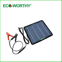 ECO WORTHY 12 Volts 5 Watts Portable Power Solar Panel Battery Charger Backup For Car Boat