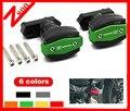 Nuova accesorios ricambi moto cnc copertura motor crash protector para kawasaki z800 2013 2014 2015 paratelaio in alluminio