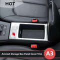 For Audi A3 8V Interior Central Armrest Storage Box Panel Cover Trim 2012-2015