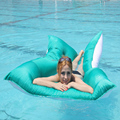 ywxuege  Swimming floating cushion is suitable for outdoor surfing lazy sofa   polyester floating fabric+sanwich fabric