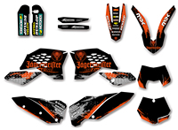 Motorctcle Graphic Decal Sticker For KTM 125 200 250 300 350 450 525 SX SXF 2007 2011 EXC XCF XC F 2008 2009 2010 2011