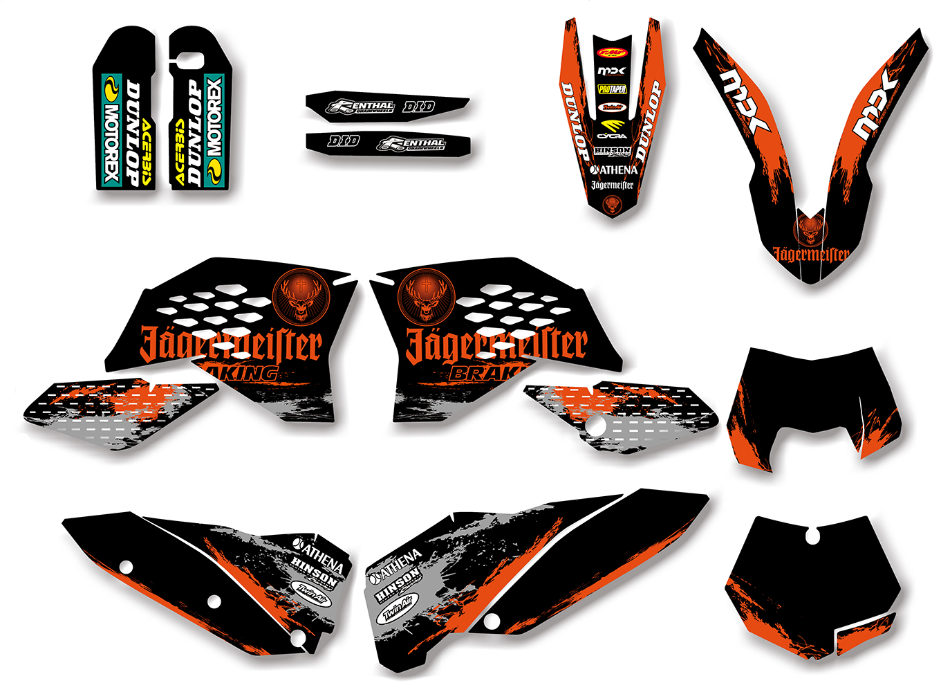 Motorctcle Graphic <font><b>Decal</b></font> Sticker For <font><b>KTM</b></font> 125 200 250 300 350 450 525 SX SXF 2007-2011 EXC XCF XC-F <font><b>2008</b></font> 2009 2010 2011 image