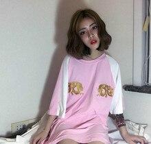 2017 summer Korean version of the loose original Harborside Yokosuka embroidery flowers female sleeves T-shirt