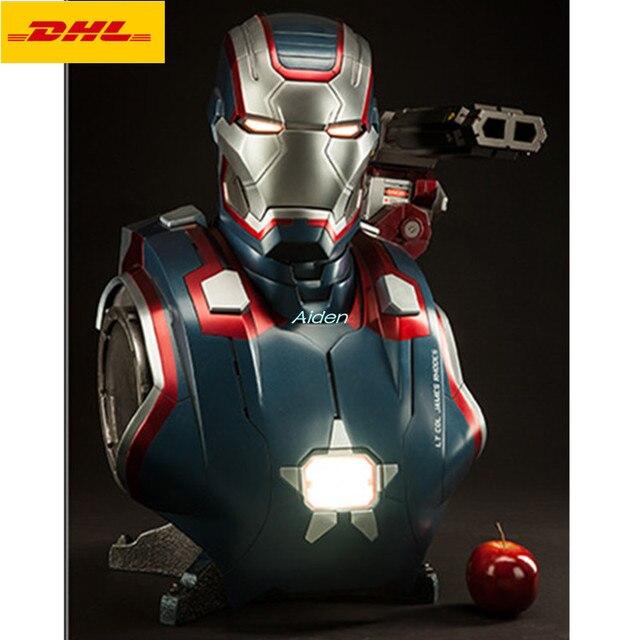 """26 """"os vingadores: endgame de Super-heróis Homem De Ferro Cabeça Retrato do Busto Estátua PF Tony Stark Com Luz LED GK Action Figure Toy 66 CM b1094"""