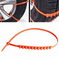 10Pcs Winter Car Truck Snow Anti Skid Wheel Tyre Tire Chains Fit Tire Width Between 175