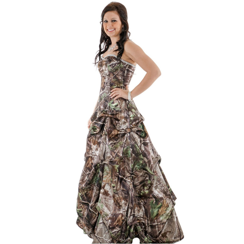 004dd427dd413 strapless sweetheart long camo prom dresses 2019 realtree camouflage ball  gowns-in Prom Dresses from Weddings & Events on Aliexpress.com | Alibaba  Group