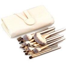 24 Pcs Kabuki Makeup Brush Set Cosmetics Foundation Blending Blush Eyeliner Face Powder Brushes Kit With Synthetic Leather Case