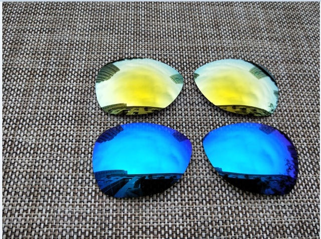 0735f2b2521 Kampire 24K Gold   Ice Blue Polarized Replacement Lenses for New Crosshair  (2012) Sunglasses