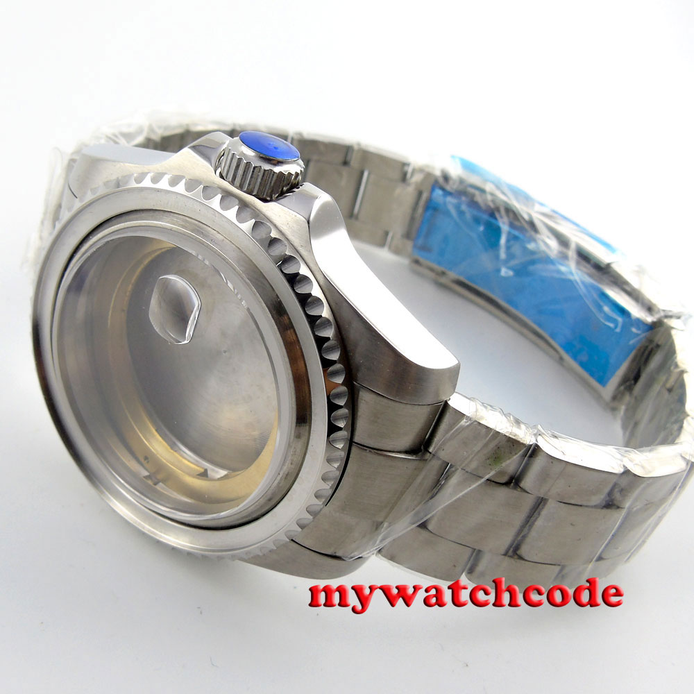 где купить 43mm sapphire glass Watch Case fit ETA 2824 2836 MOVEMENT C101 по лучшей цене