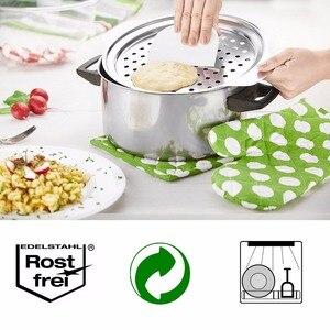 Image 5 - ステンレス鋼spaetzleメーカー蓋付きスクレーパードイツ卵麺団子メーカーホームキッチンパスタ調理ツールaccessoires