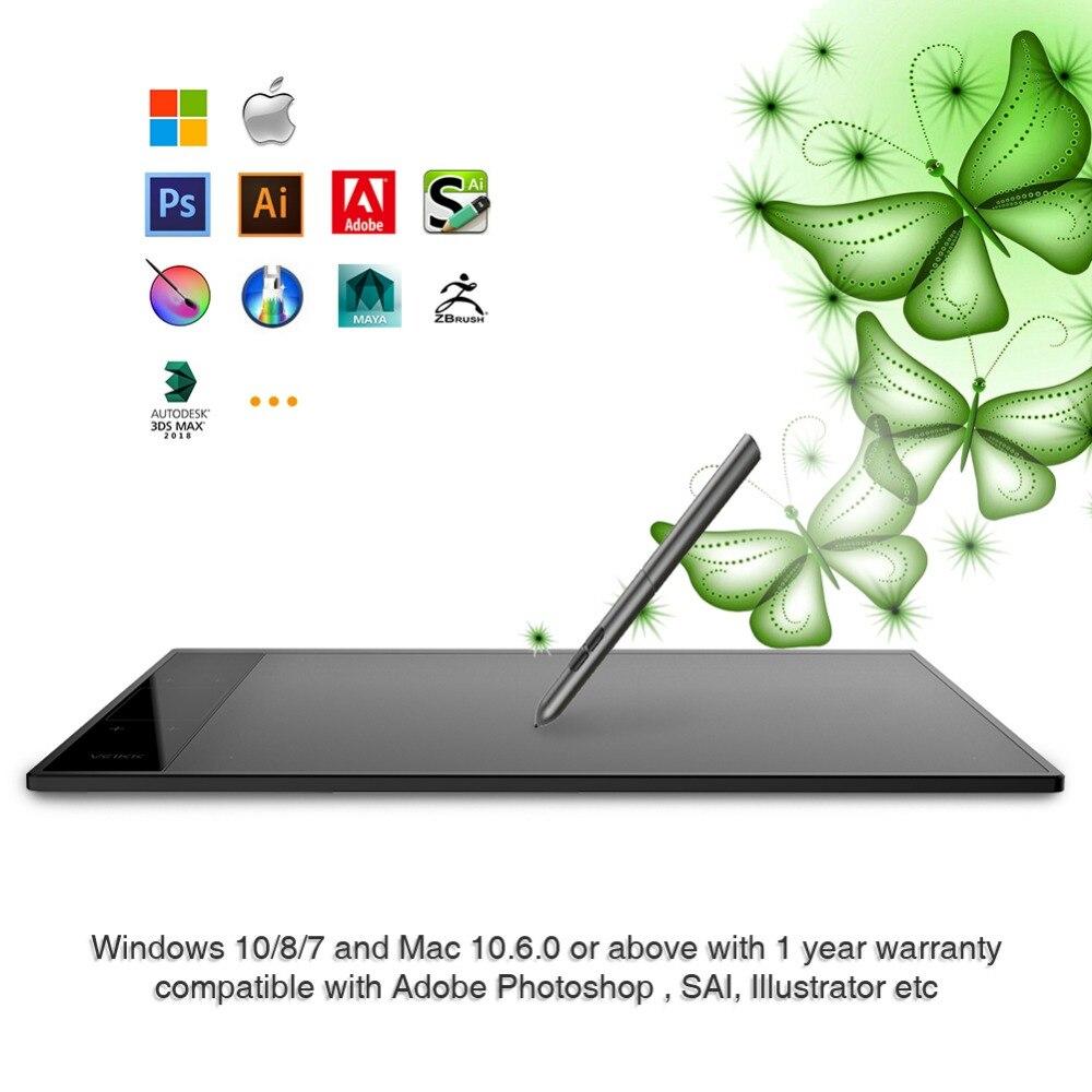 Tablette de dessin VEIKK A30 10x6 pouces grandes tablettes graphiques de dessin numérique à zone Active avec 8192 niveaux de sensibilité à la pression - 5