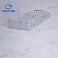 Promotion Chrome Finish Waterfall Rainfall Shower Head For Bathroom Wall Mounted