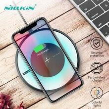NILLKIN 10 w Qi Carregador Sem Fio Para iPhone xs xr x 8 Mais Rápido Carregamento Pad Para Samsung s9 s10 carregadores de Telefone s8 Magia Sem Fio