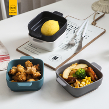 RUX WORKSHOP Nordic solid color ceramic bowl restaurant breakfast salad dessert white black dinner risotto
