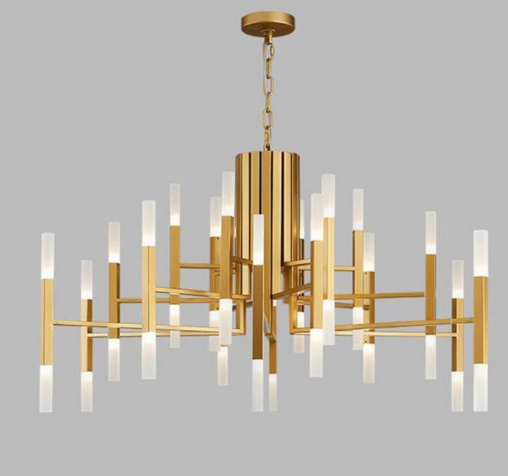 Скандинавский постсовременный светодиодный светильник для спальни канделябр, гостиной, фойе, ресторана, Золотая люстра, креативная индиви
