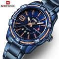 NAVIFORCE Fashion Casual Marke Wasserdicht Quarz Uhr Männer Military Edelstahl Sport Uhren Mann Uhr Relogio Masculino