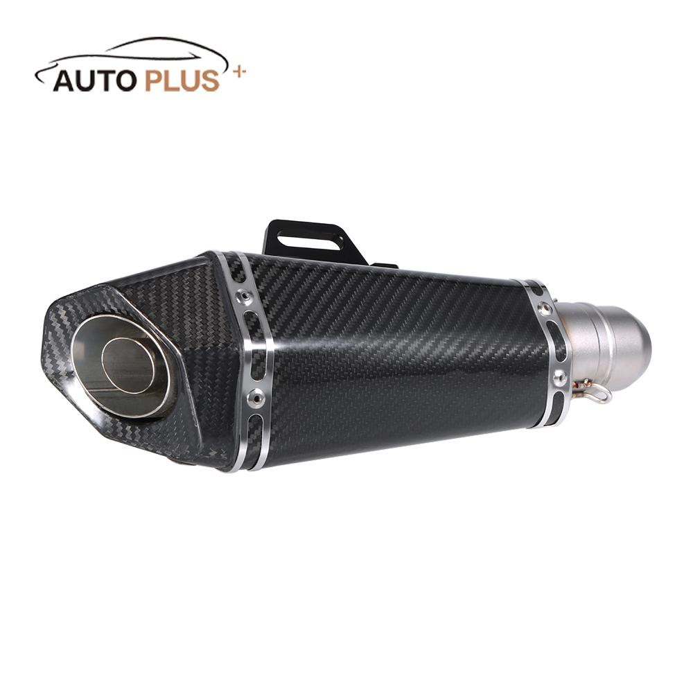 51 mm Carbon Fiber Refit Exhaust Muffler Pipe Small Hexagon Style for Motorcycles  Stainless Steel Universal Exhaust Tip stylish stainless steel car exhaust pipe muffler tip