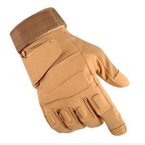 Image 3 - Nuevos hombres y mujeres táctico guantes al aire libre antideslizante ciclismo deportivo de la mitad de dedo completo dedo luchando guantes